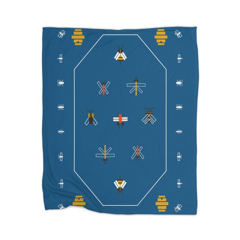 Bugs Home Blanket by Yasmin Imamura