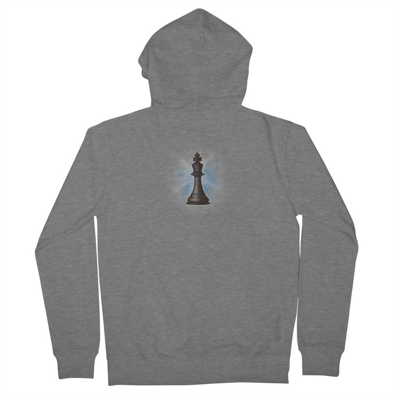 Chess King Women's French Terry Zip-Up Hoody by yavuzkorpefiliz's Artist Shop