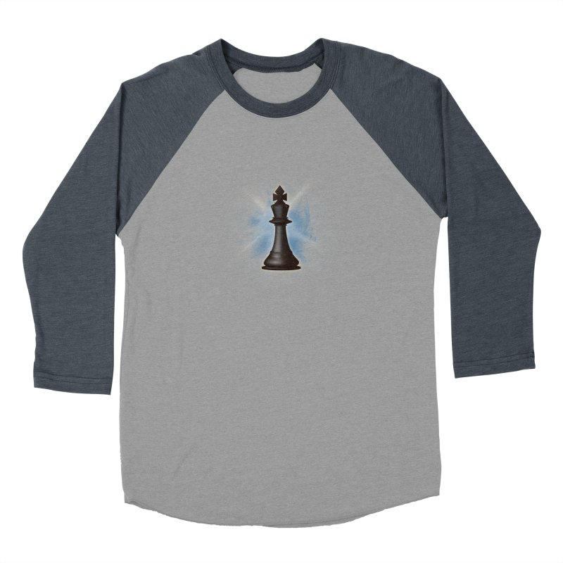 Chess King Men's Baseball Triblend Longsleeve T-Shirt by yavuzkorpefiliz's Artist Shop