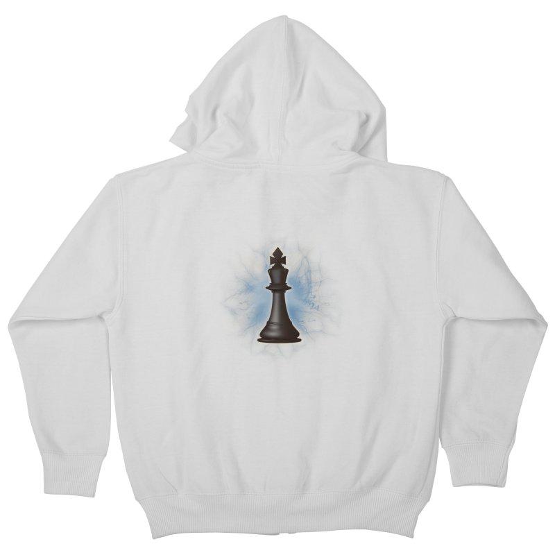Chess King Kids Zip-Up Hoody by yavuzkorpefiliz's Artist Shop