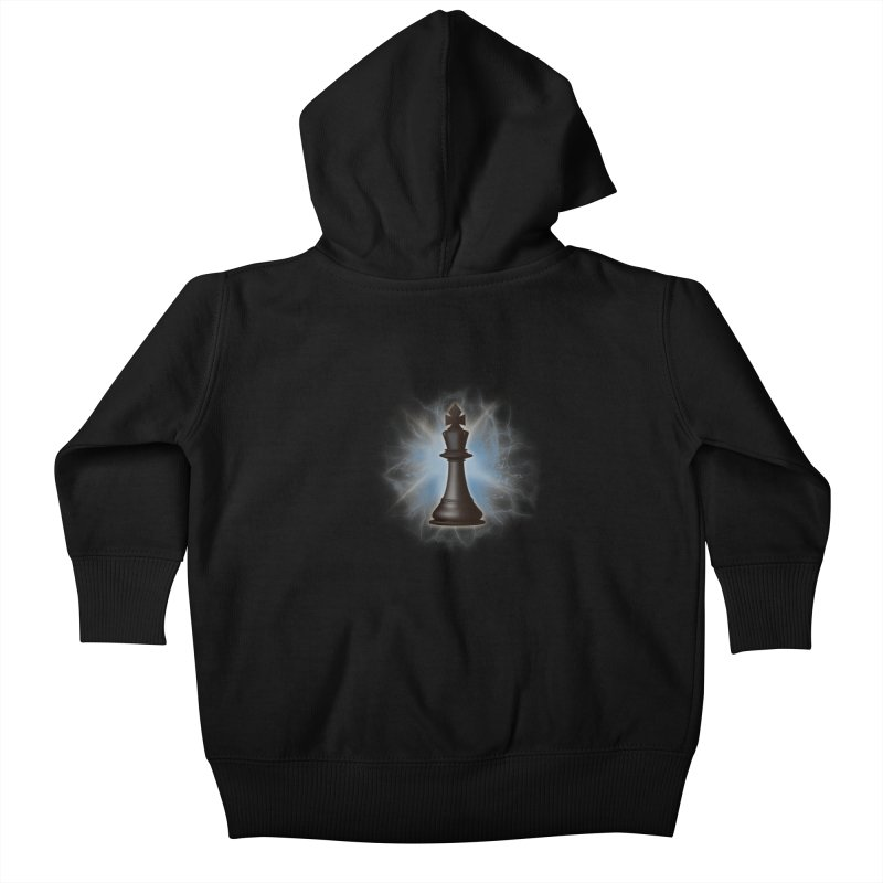 Chess King Kids Baby Zip-Up Hoody by yavuzkorpefiliz's Artist Shop