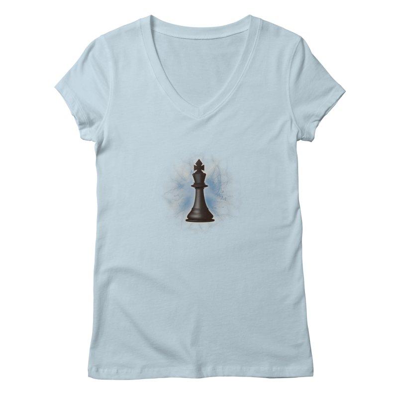 Chess King Women's Regular V-Neck by yavuzkorpefiliz's Artist Shop