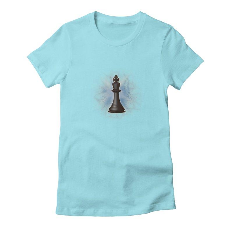 Chess King Women's Fitted T-Shirt by yavuzkorpefiliz's Artist Shop