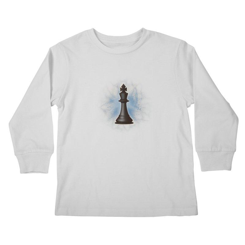 Chess King Kids Longsleeve T-Shirt by yavuzkorpefiliz's Artist Shop