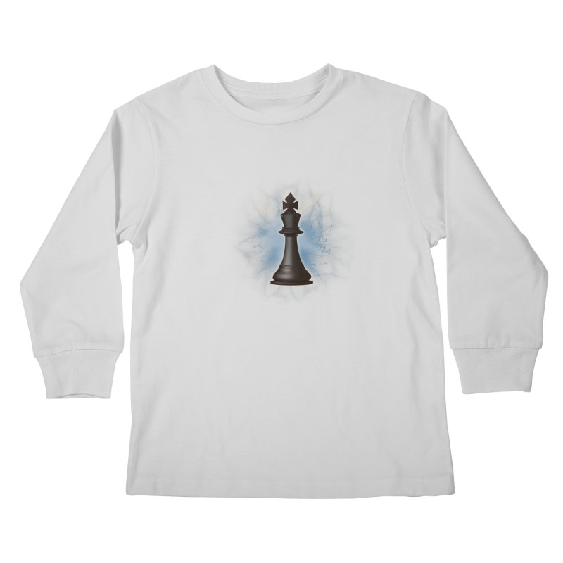 Chess King Kids Longsleeve T-Shirt by yavuzkorpefiliz's Artist Shop