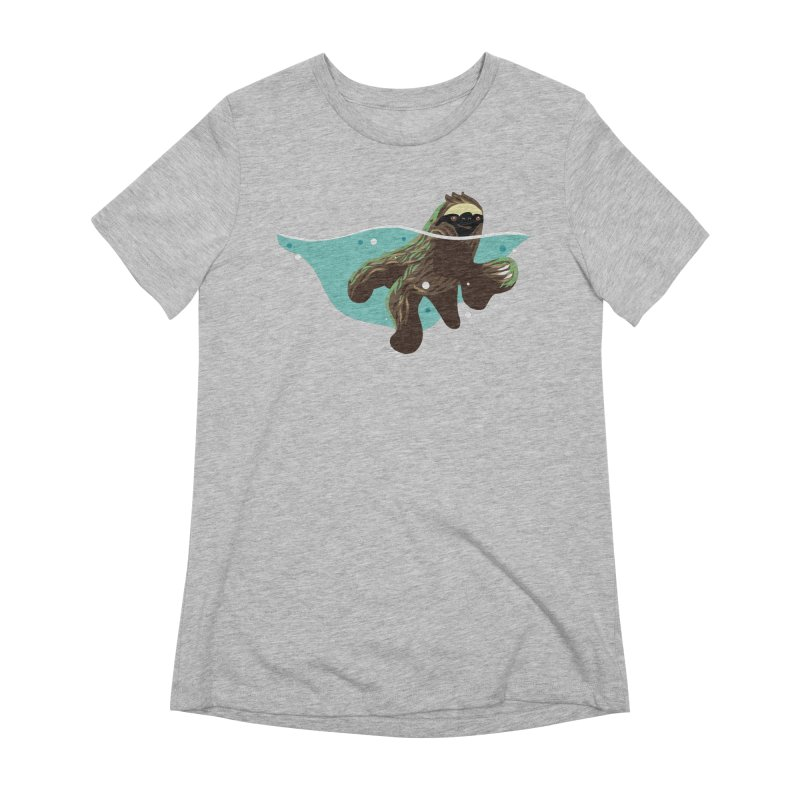 Swimming Sloth Women's Extra Soft T-Shirt by LAURA SANDERS