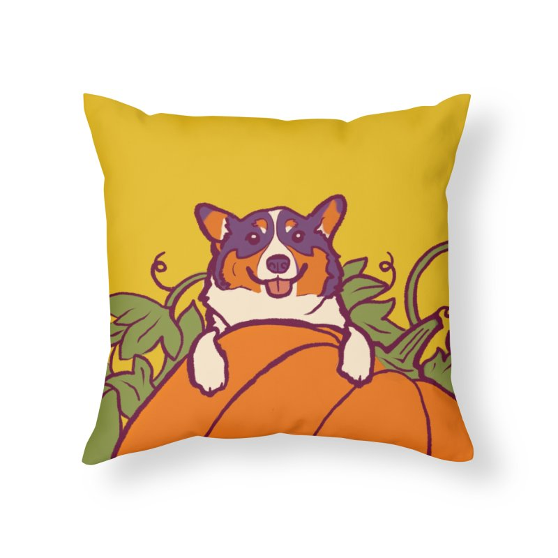The Great Pumpkin Gatsby Home Throw Pillow by LAURA SANDERS