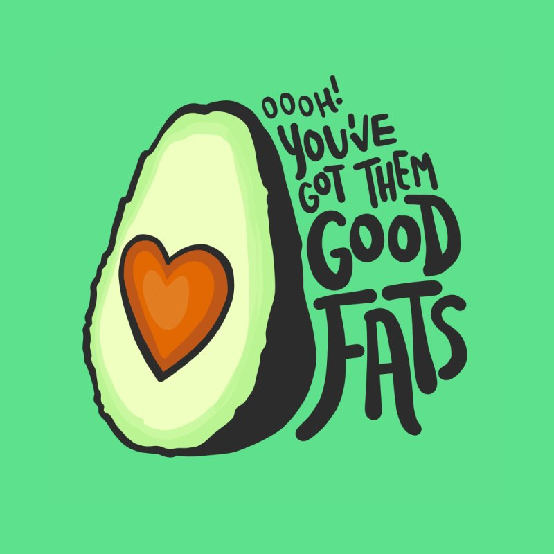 Good Fats Men's T-Shirt by LAURA SANDERS