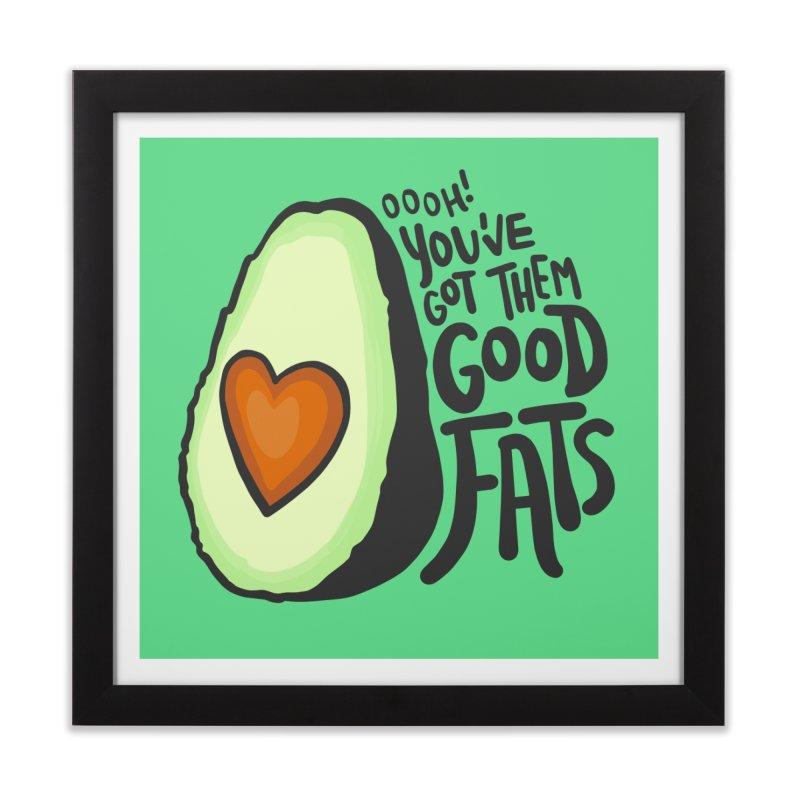 Good Fats Home Framed Fine Art Print by LAURA SANDERS