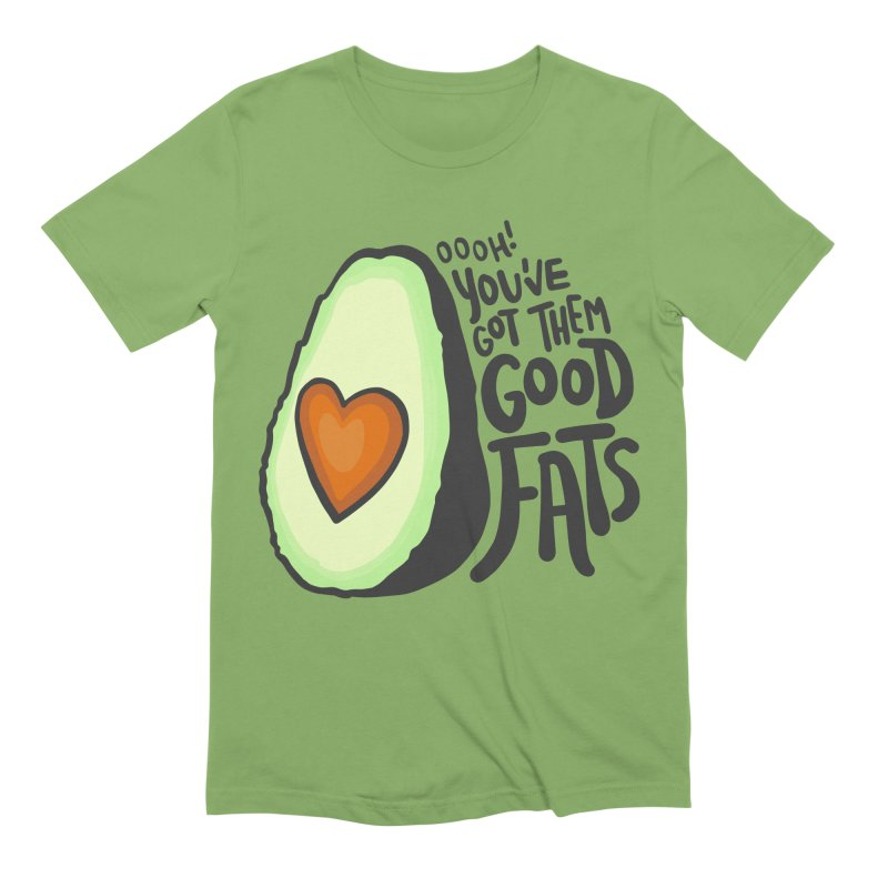 Good Fats Men's Extra Soft T-Shirt by LAURA SANDERS
