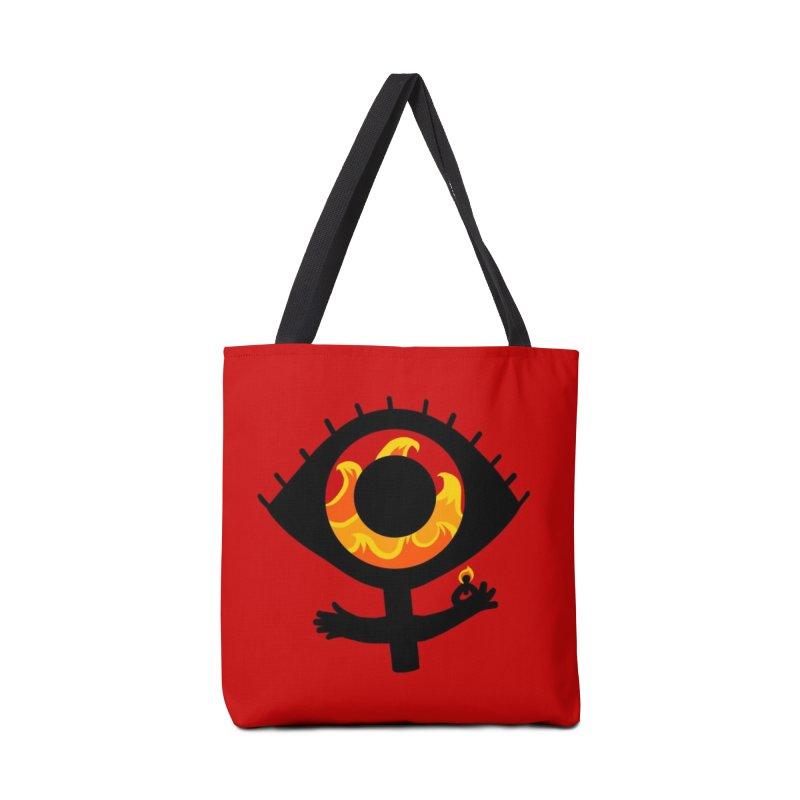 Burn it Down Accessories Tote Bag Bag by LAURA SANDERS