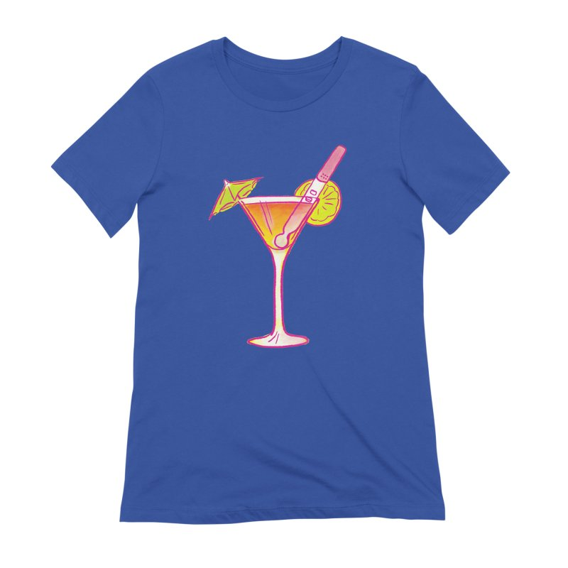 Close Call Cocktail Women's Extra Soft T-Shirt by LAURA SANDERS