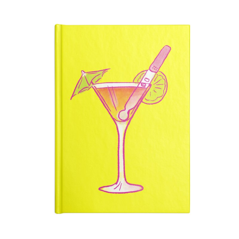 Close Call Cocktail Accessories Lined Journal Notebook by LAURA SANDERS