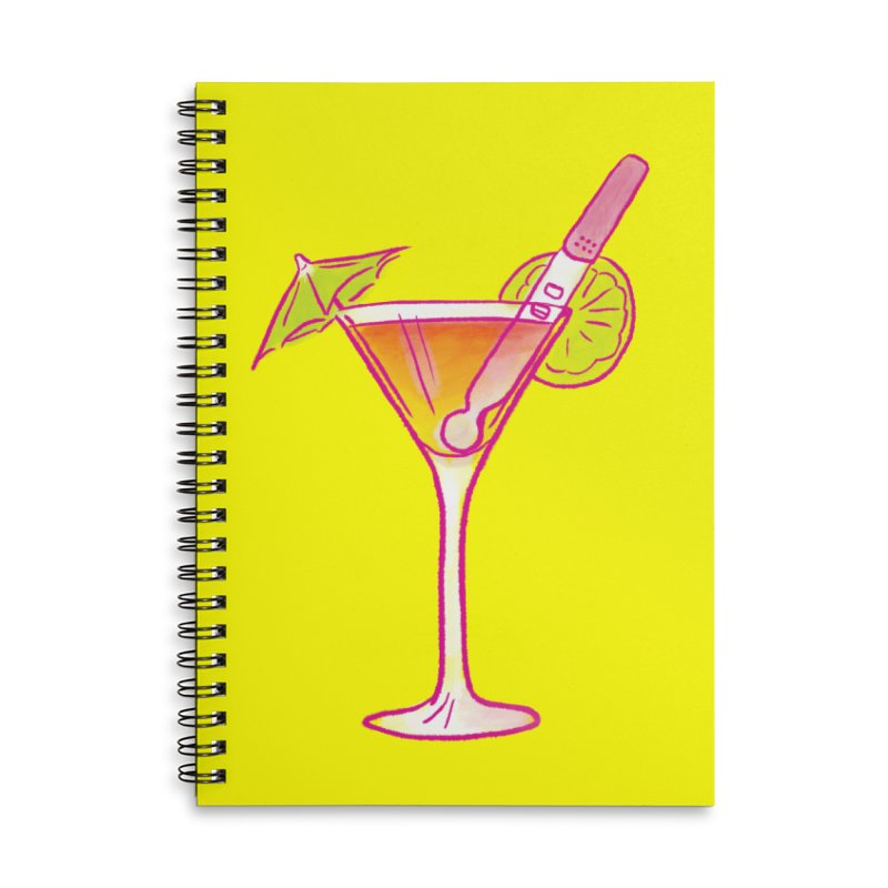 Close Call Cocktail Accessories Lined Spiral Notebook by LAURA SANDERS