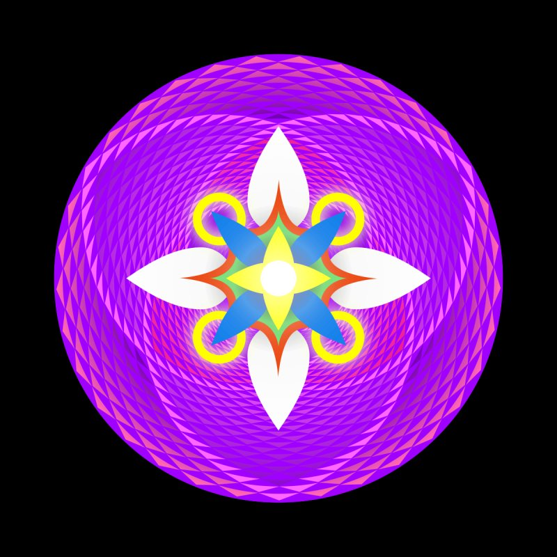 Flower in the space of meditation by Universe Deep Inside