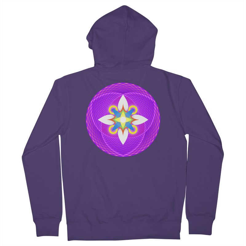 Flower in the space of meditation Women's Zip-Up Hoody by Universe Deep Inside