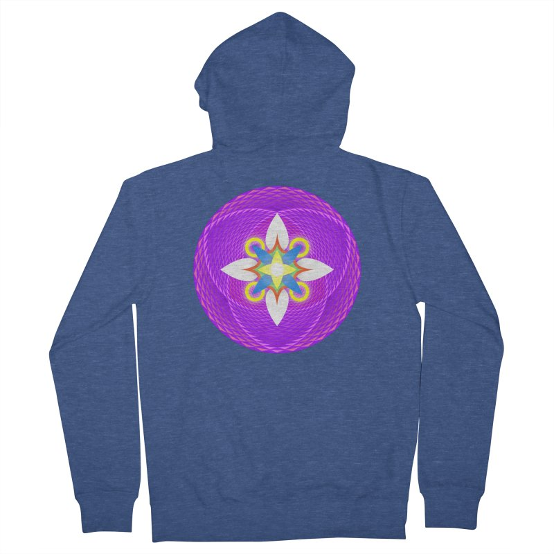 Flower in the space of meditation Men's Zip-Up Hoody by Universe Deep Inside