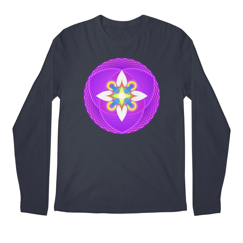 Flower in the space of meditation Men's Longsleeve T-Shirt by Universe Deep Inside