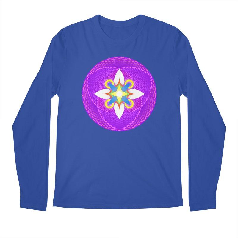 Flower in the space of meditation Men's Longsleeve T-Shirt by Universe Deep Inside