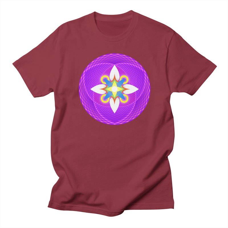 Flower in the space of meditation Men's T-shirt by Universe Deep Inside