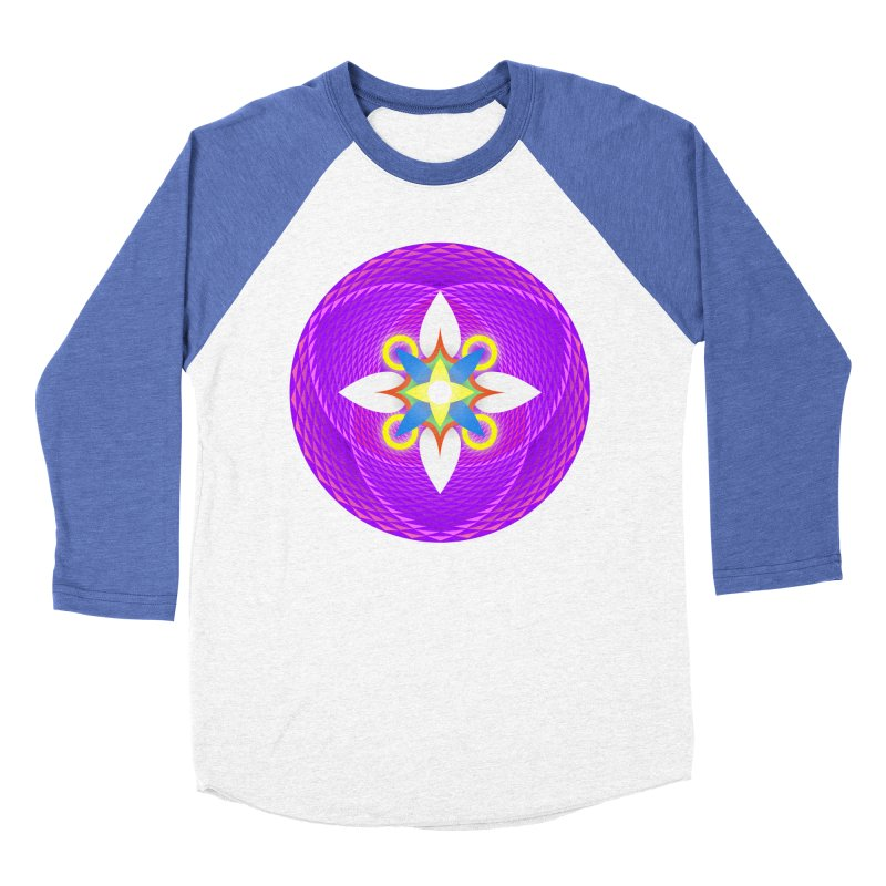 Flower in the space of meditation Women's Baseball Triblend T-Shirt by Universe Deep Inside