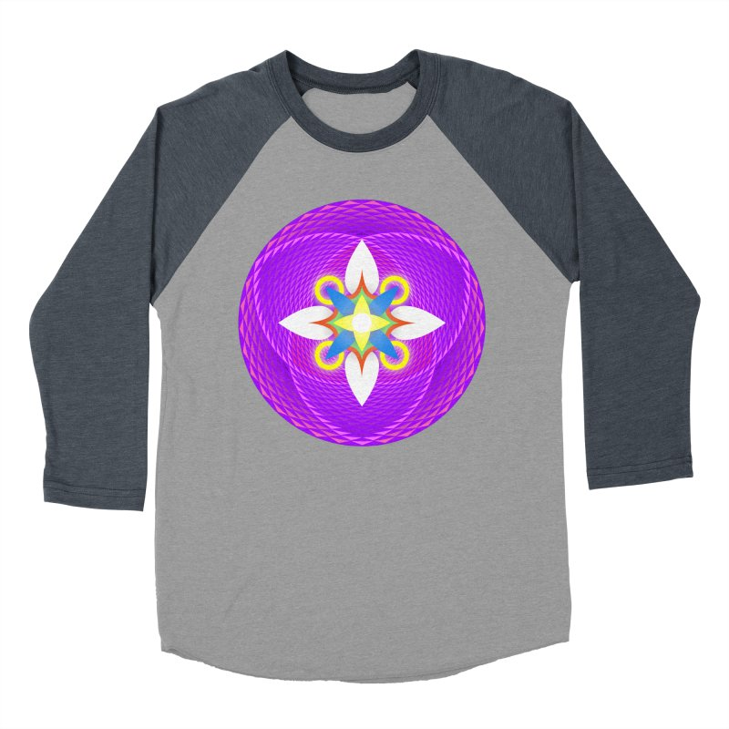 Flower in the space of meditation Men's Baseball Triblend T-Shirt by Universe Deep Inside