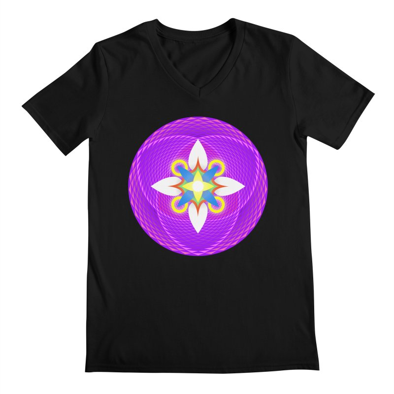 Flower in the space of meditation Men's V-Neck by Universe Deep Inside