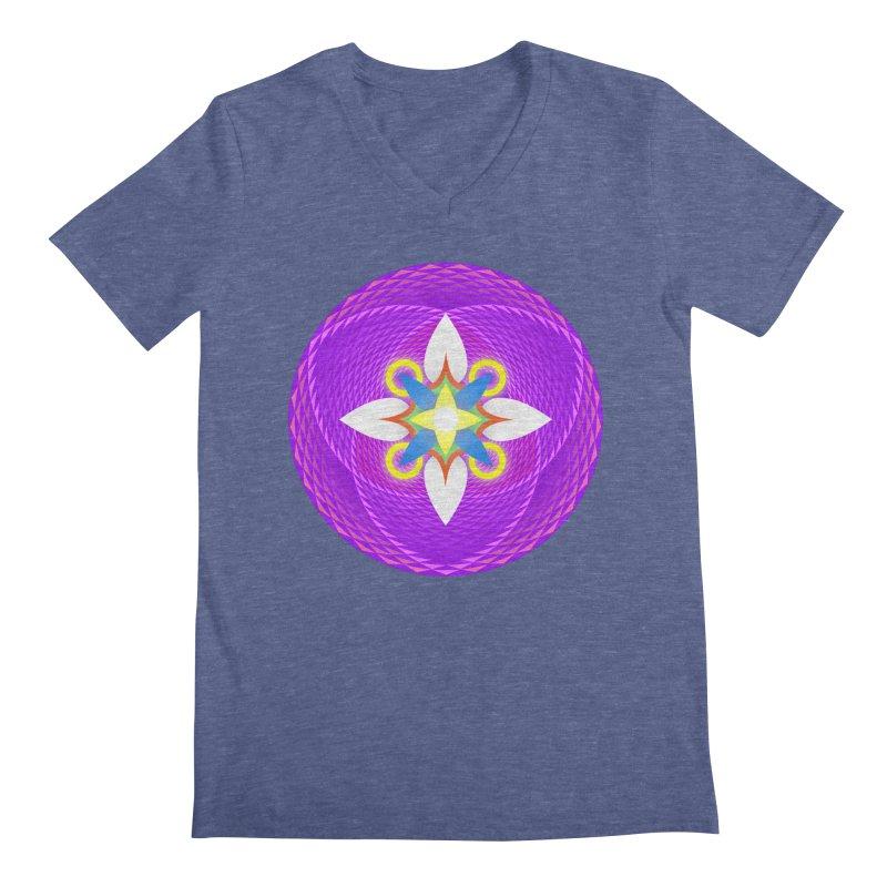 Flower in the space of meditation Men's V-Neck by Universe Deep Inside