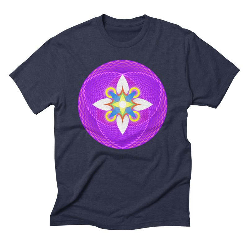 Flower in the space of meditation Men's Triblend T-shirt by Universe Deep Inside
