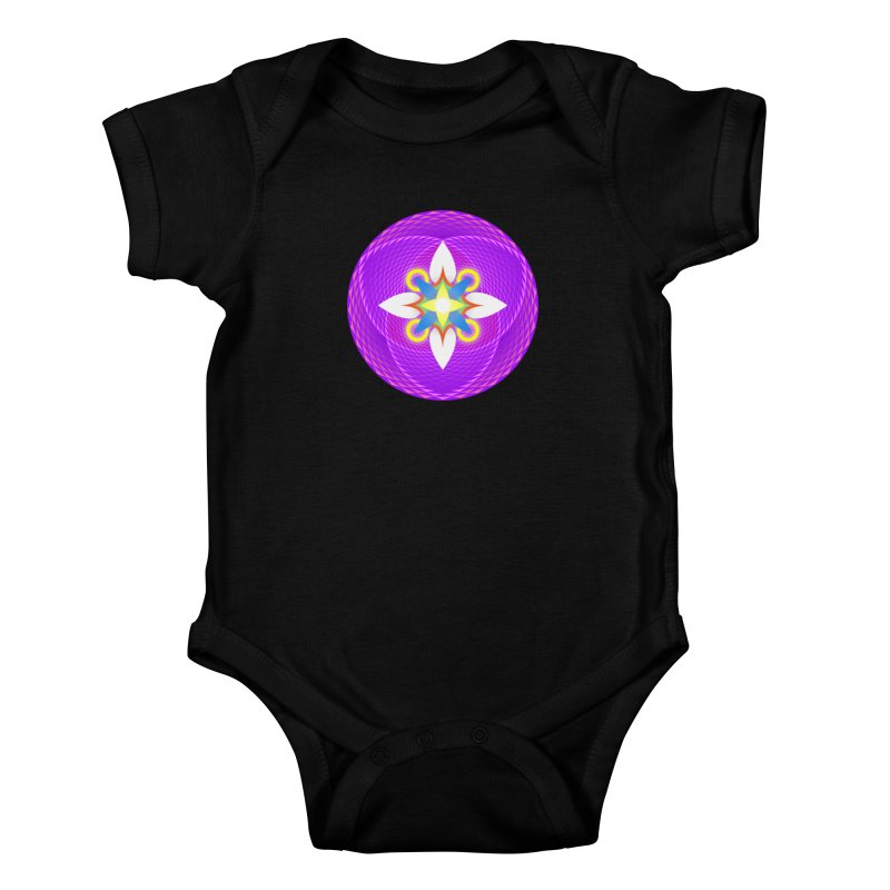 Flower in the space of meditation Kids Baby Bodysuit by Universe Deep Inside