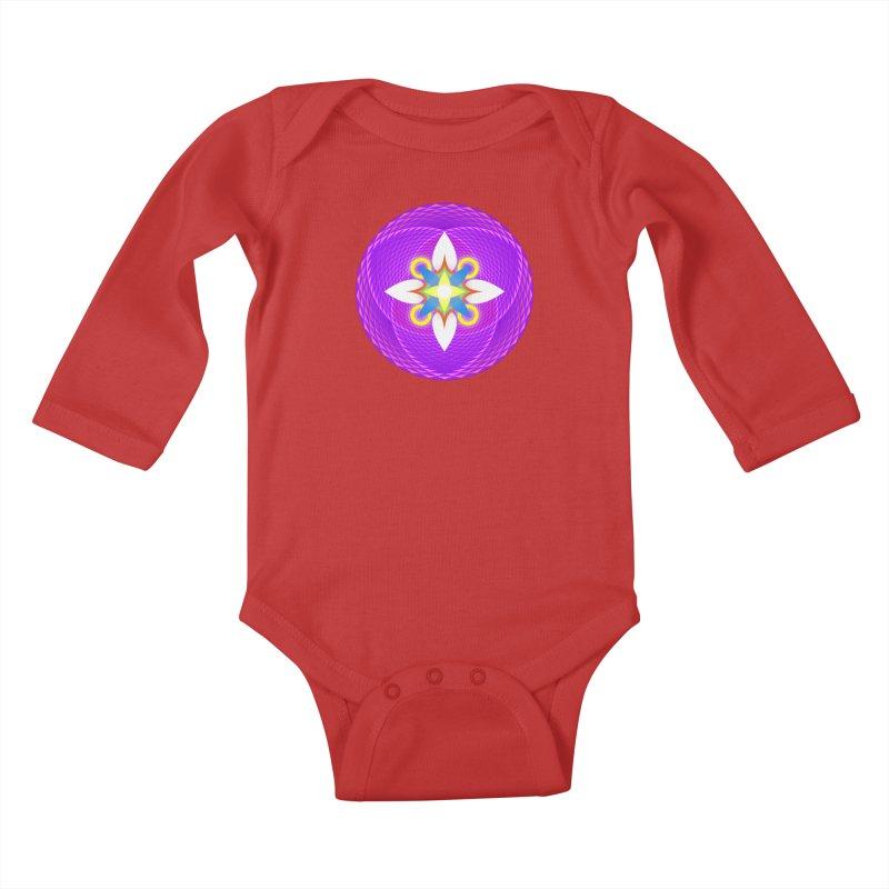 Flower in the space of meditation Kids Baby Longsleeve Bodysuit by Universe Deep Inside