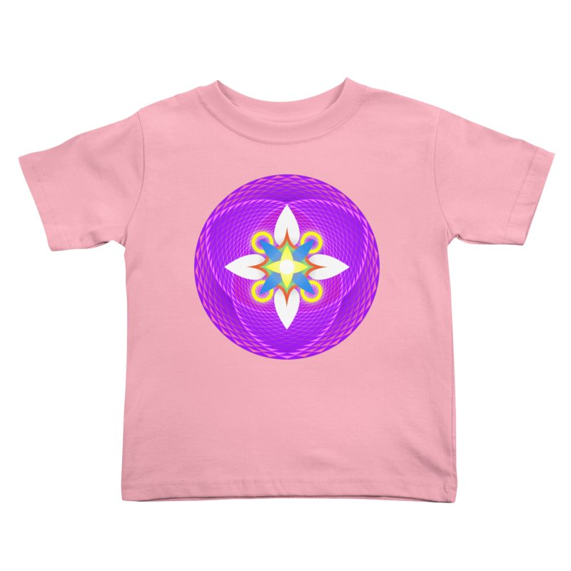 Flower in the space of meditation Kids Toddler T-Shirt by Universe Deep Inside