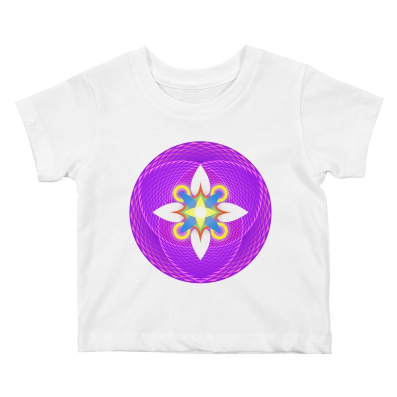 Flower in the space of meditation Kids Baby T-Shirt by Universe Deep Inside