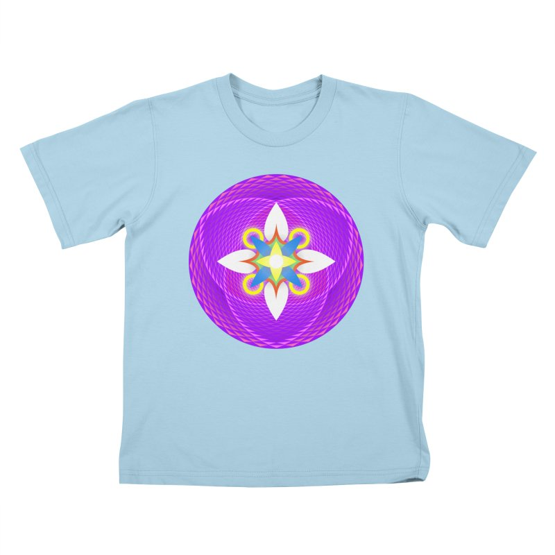 Flower in the space of meditation Kids T-shirt by Universe Deep Inside