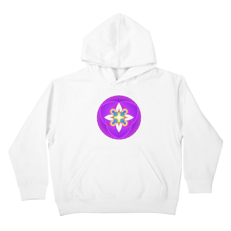 Flower in the space of meditation Kids Pullover Hoody by Universe Deep Inside