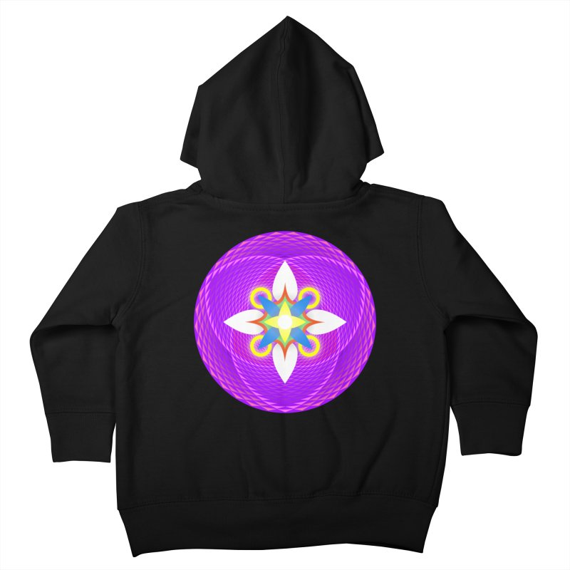 Flower in the space of meditation Kids Toddler Zip-Up Hoody by Universe Deep Inside