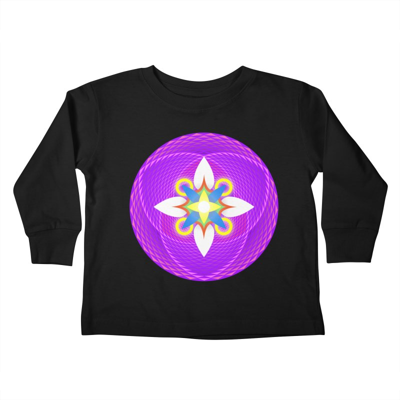 Flower in the space of meditation Kids Toddler Longsleeve T-Shirt by Universe Deep Inside