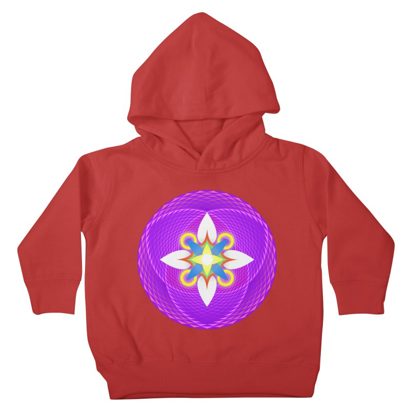 Flower in the space of meditation Kids Toddler Pullover Hoody by Universe Deep Inside