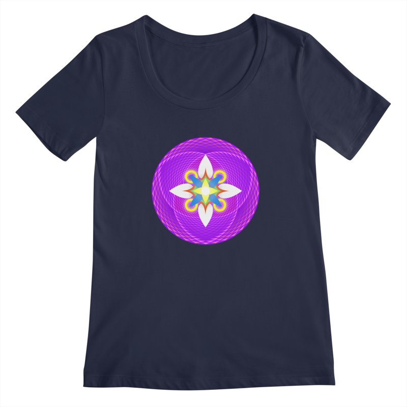 Flower in the space of meditation Women's Scoopneck by Universe Deep Inside