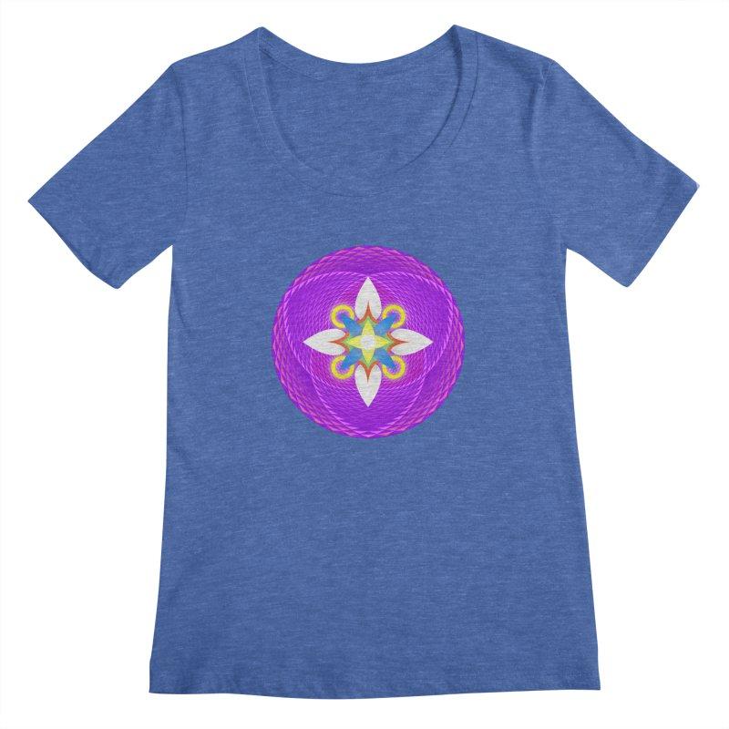 Flower in the space of meditation Women's Scoopneck by Universe Deep Inside
