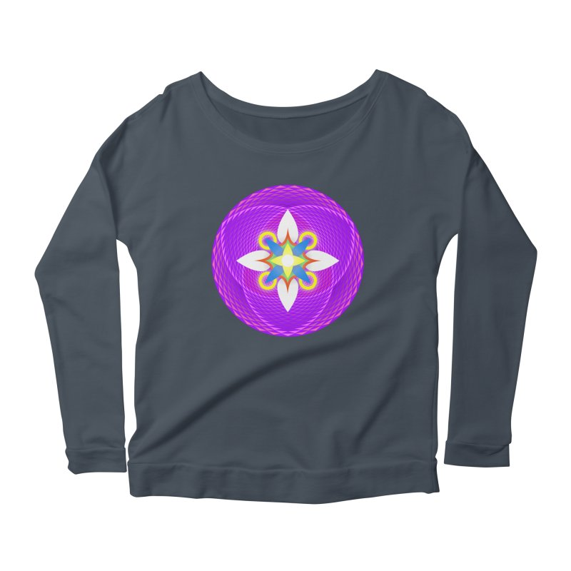 Flower in the space of meditation Women's Longsleeve Scoopneck  by Universe Deep Inside