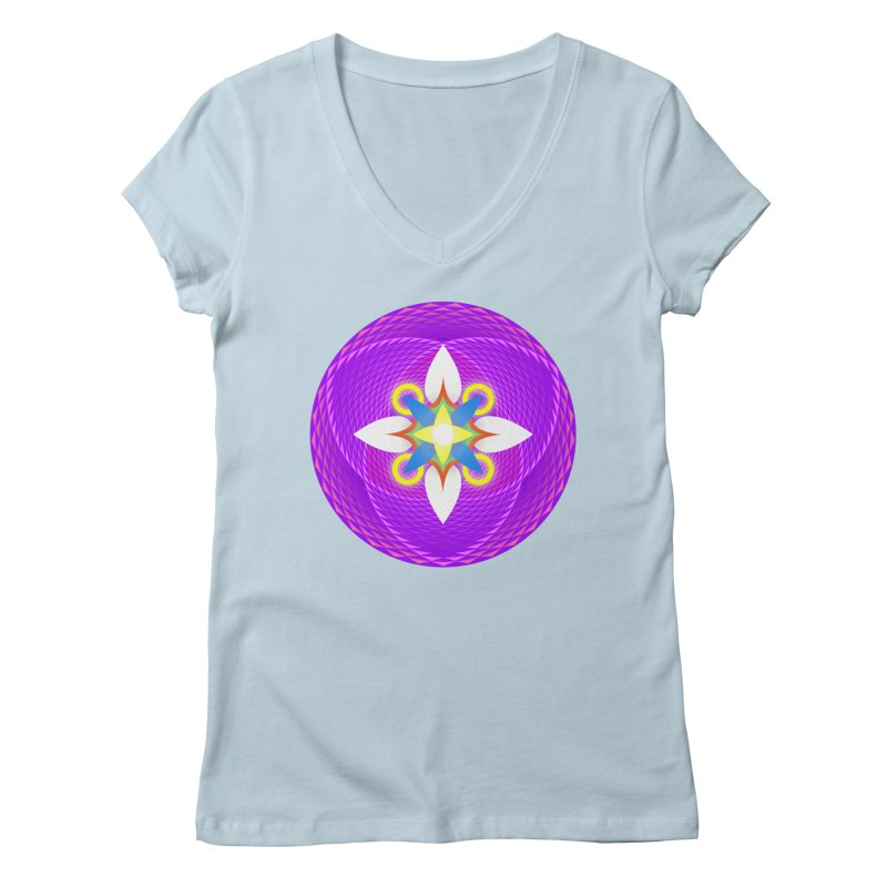 Flower in the space of meditation Women's V-Neck by Universe Deep Inside