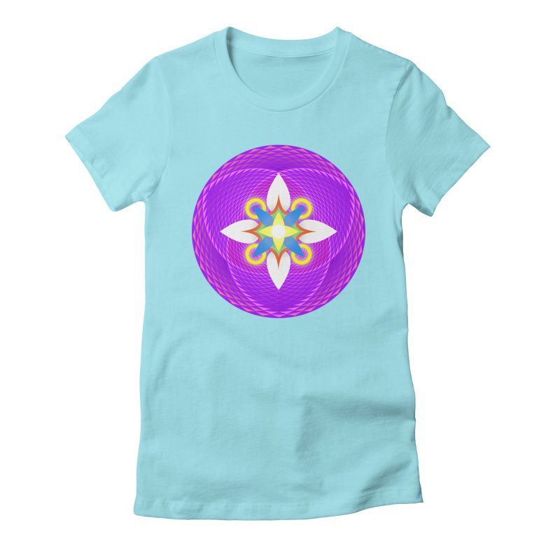 Flower in the space of meditation Women's Fitted T-Shirt by Universe Deep Inside