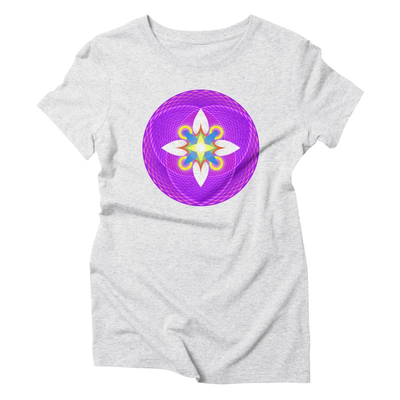 Flower in the space of meditation Women's Triblend T-Shirt by Universe Deep Inside