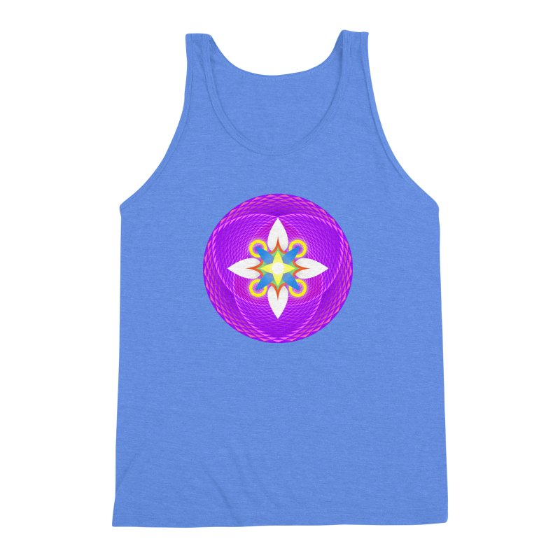 Flower in the space of meditation Men's Triblend Tank by Universe Deep Inside