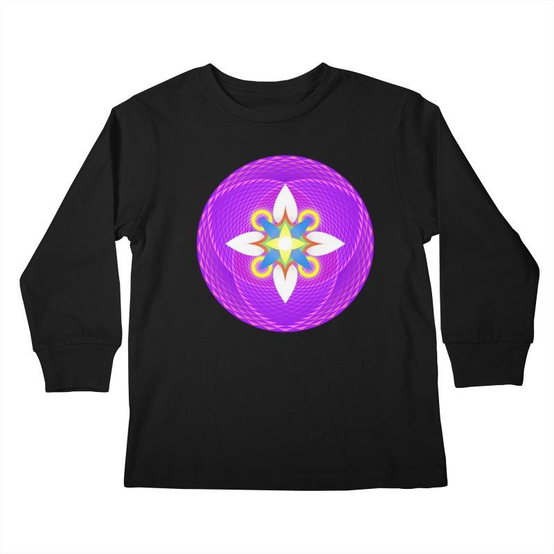 Flower in the space of meditation Kids Longsleeve T-Shirt by Universe Deep Inside