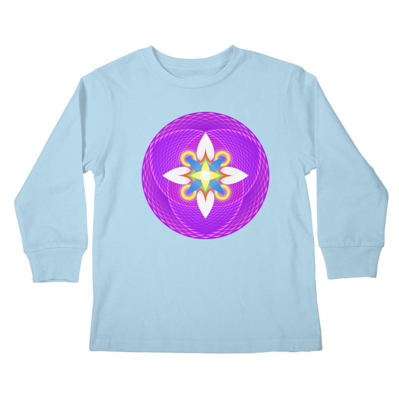 Flower in the space of meditation Kids Longsleeve T-Shirt by Universe Deep Inside