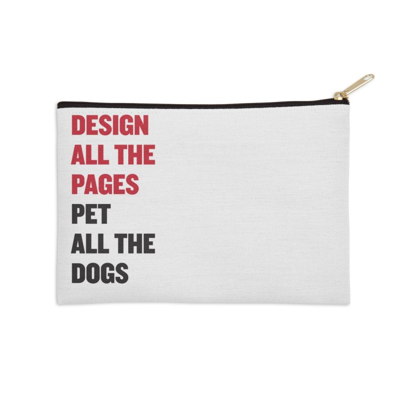 Yearbook Hearts Doggos Accessories Zip Pouch by Yearbooking is easy