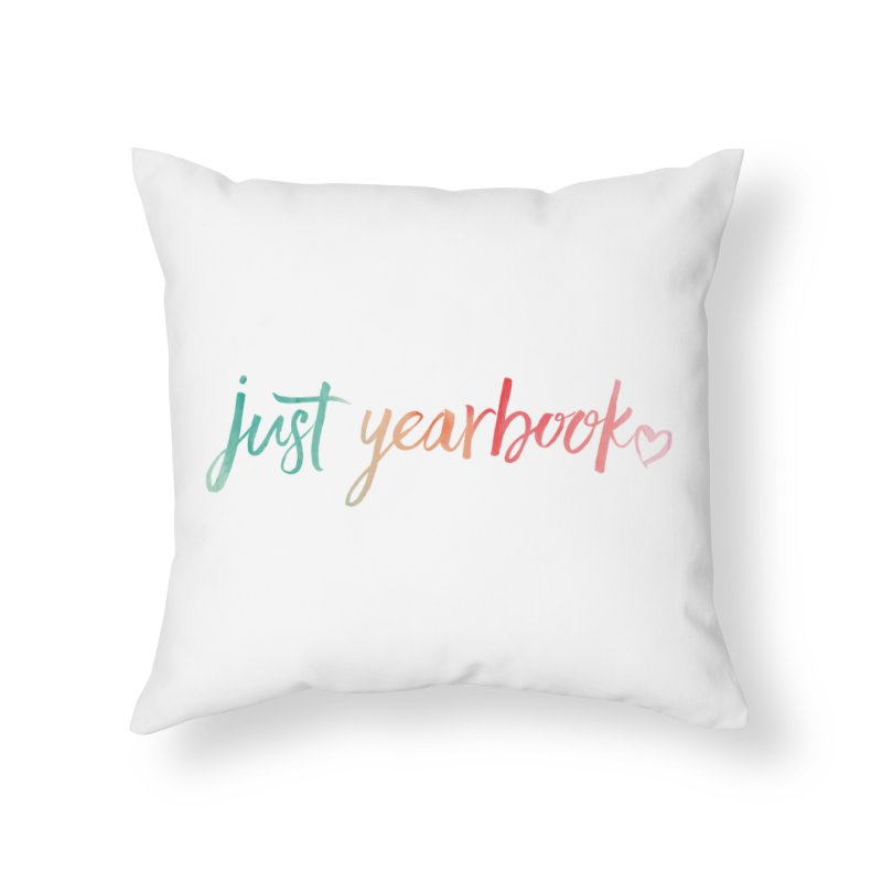 just yearbook in Throw Pillow by Yearbooking is easy