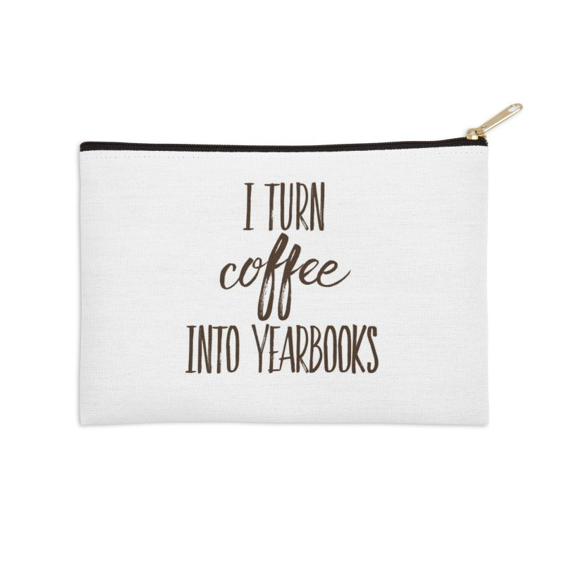 Travel Coffee for Yearbook Accessories Zip Pouch by Yearbooking is easy